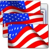 Lenticular Standard Luggage Tag with Clear Plastic Loop, Flip Change image The Stars and Stripes, Old Glory, United States Flag, Patriotic Images, LT01-220