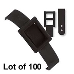 Lot of 100 Black Plastic Luggage Tag Strap Loop