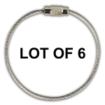 LOT of 6 Stainless Steel Screw Cable Loop Tags