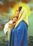 3D Lenticular POSTCARD - HOLY MOTHER