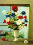 3D Lenticular POSTCARD - Flowers/WINDOW