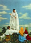 3D Lenticular VIRGIN OF FATIMA POSTCARD