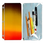 Pencil Pouch 3D Lenticular PP01-R004; Changing colors between brown, yellow, and orange when tilted.