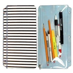 Pencil Pouch 3D Lenticular PP01-R301; Changing colors between black and white stripes when tilted.