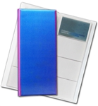 "3D Lenticular 4""x10"" Business Card File (Holds 128) ,BF128 , Purple, Blue, Sherbet"