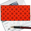 Lenticular Check Book Cover, Moving Wheels, Red, Orange, Black