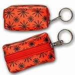 3D Lenticular Key Chain, Key Ring, Lipstick Case, Coin Purse, Changing Image Pattern ,Red, Orange, Moving Black Wheels, R-008R-Globi
