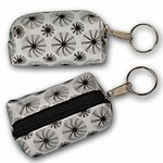 3D Lenticular Key Chain, Key Ring, Lipstick Case, Coin Purse, Changing Image Pattern , White, Black Moving Wheels, R-008W-Globi