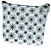 3D Lenticular Coin Purse - Pavia, with YKK Zipper,Black / White Moving Wheels