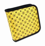 Lenticular CD DVD Case / Wallet (Holds 24), Changing Image Pattern, Black, White, Yellow, Moving Wheel  R-008Y-CD24