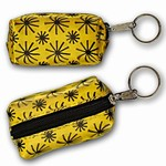 3D Lenticular Key Chain, Key Ring, Lipstick Case, Coin Purse, Changing Image Pattern , Yellow, Black Moving Wheels, R-008Y-Globi
