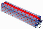 3D Lenticular Pencil Case, GLOBO, Stars,  Red, White, Blue