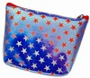 3D Lenticular Coin Purse - Pavia, with YKK Zipper, Stars, Red, White, Blue