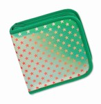Lenticular CD DVD Case / Wallet (Holds 24), Changing Image Pattern, Green, Red, Star,  R-012G-CD24