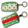 3D Lenticular Key Chain, Key Ring, Lipstick Case, Coin Purse, Changing Image Pattern , Red Green Stars, R-012G-Globi