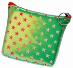 3D Lenticular Coin Purse - Pavia, with YKK Zipper, Stars, Red, White, Green