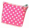 3D Lenticular Coin Purse - Pavia, with YKK Zipper, Stars, PInk, White,