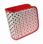 Lenticular CD DVD Case / Wallet (Holds 24), Changing Image Pattern, Red, Black, White, Porker , R-014-CD24
