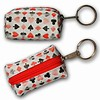 3D Lenticular Key Chain, Key Ring, Lipstick Case, Coin Purse, Changing Image Pattern , Poker, Suite, Red White, Black, R-014-Globi