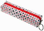 3D Lenticular Pencil Case, GLOBO, Porker, Suite White , Red, Black