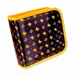 Lenticular CD DVD Case / Wallet (Holds 24), Changing Image Pattern, Black, Yellow, Rianbow, Butterfly, R-019B-CD24