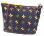 3D Lenticular Coin Purse - Pavia, with YKK Zipper, 3D Butterfly, Black