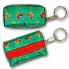 3D Lenticular Key Chain, Key Ring, Lipstick Case, Coin Purse, Changing Image Pattern , Red, Yellow Butterfly, Green, R-019G-Globi