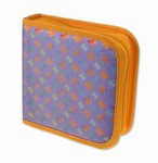 Lenticular CD DVD Case / Wallet (Holds 24), Changing Image Pattern, Purple, Blue Rianbow, Butterfly, R-019PL-CD24
