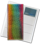 "3D Lenticular 4""x10"" Business Card File (Holds 128) ,BF128 , golden, purple"