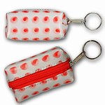3D Lenticular Key Chain, Key Ring, Lipstick Case, Coin Purse, Changing Image Pattern , 3-D Moving, Red Dots, R-041-Globi