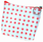 3D Lenticular Coin Purse - Pavia, with YKK Zipper, 3D Moving Dots, Red