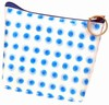 3D Lenticular Coin Purse - Pavia, with YKK Zipper, 3D Moving Dots, Blue