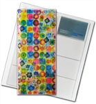 "3D Lenticular 4""x10"" Business Card File (Holds 128) , , BF128,  Flowers, Rainbow, Red, Green"