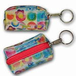 3D Lenticular Key Chain, Key Ring, Lipstick Case, Coin Purse, Changing Image Pattern , Rainbow Changing Sun Flowers, R-053-Globi