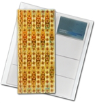 "3D Lenticular 4""x10"" Business Card File (Holds 128) , BF128, ROSES. Red, Yellow"