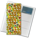 "3D Lenticular 4""x10"" Business Card File (Holds 128) , BF128 , Happy Face/Flowers, Rainbow"