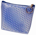3D Lenticular Coin Purse - Pavia, with YKK Zipper, 3D Moving Cones ON Blue