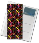 "3D Lenticular 4""x10"" Business Card File (Holds 128) , BF128 , Letter, A B C , Black"