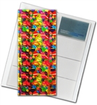 "3D Lenticular 4""x10"" Business Card File (Holds 128) , BF128 , Red, Green, Blue"