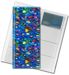 "3D Lenticular 4""x10"" Business Card File (Holds 128) , BF128 , Fish, Blue, Green"