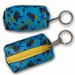3D Lenticular Key Chain, Key Ring, Lipstick Case, Coin Purse, Changing Image Pattern , Blue, 3-D Star Fish, R-122-Globi