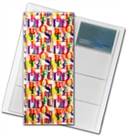 "3D Lenticular 4""x10"" Business Card File (Holds 128) , BF128 , White, Red"