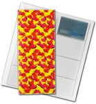 "3D Lenticular 4""x10"" Business Card File (Holds 128)  BF128 , Love Hart  Red, Yellow"