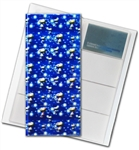 "3D Lenticular 4""x10"" Business Card File (Holds 128) , BF128 , Blue, SNUPPY"