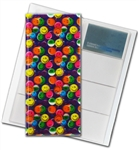 "3D Lenticular 4""x10"" Business Card File (Holds 128) , BF128 , Happy Face, Red, Yellow, Blue"