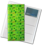 "3D Lenticular 4""x10"" Business Card File (Holds 128) , BF128 , Green"
