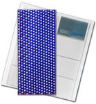 "3D Lenticular 4""x10"" Business Card File (Holds 128) , BF128 , Red, Whire, Blue"