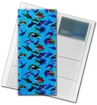 "3D Lenticular 4""x10"" Business Card File (Holds 128) , BF128 ,  DOLPHINS, Blue"