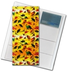 "3D Lenticular 4""x10"" Business Card File (Holds 128) , BF128 , DINOSOURS,  Yellow"