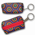 3D Lenticular Key Chain, Key Ring, Lipstick Case, Coin Purse, Changing Image Pattern , Kaleidoscope, Purple, 3-D, R-181-Globi